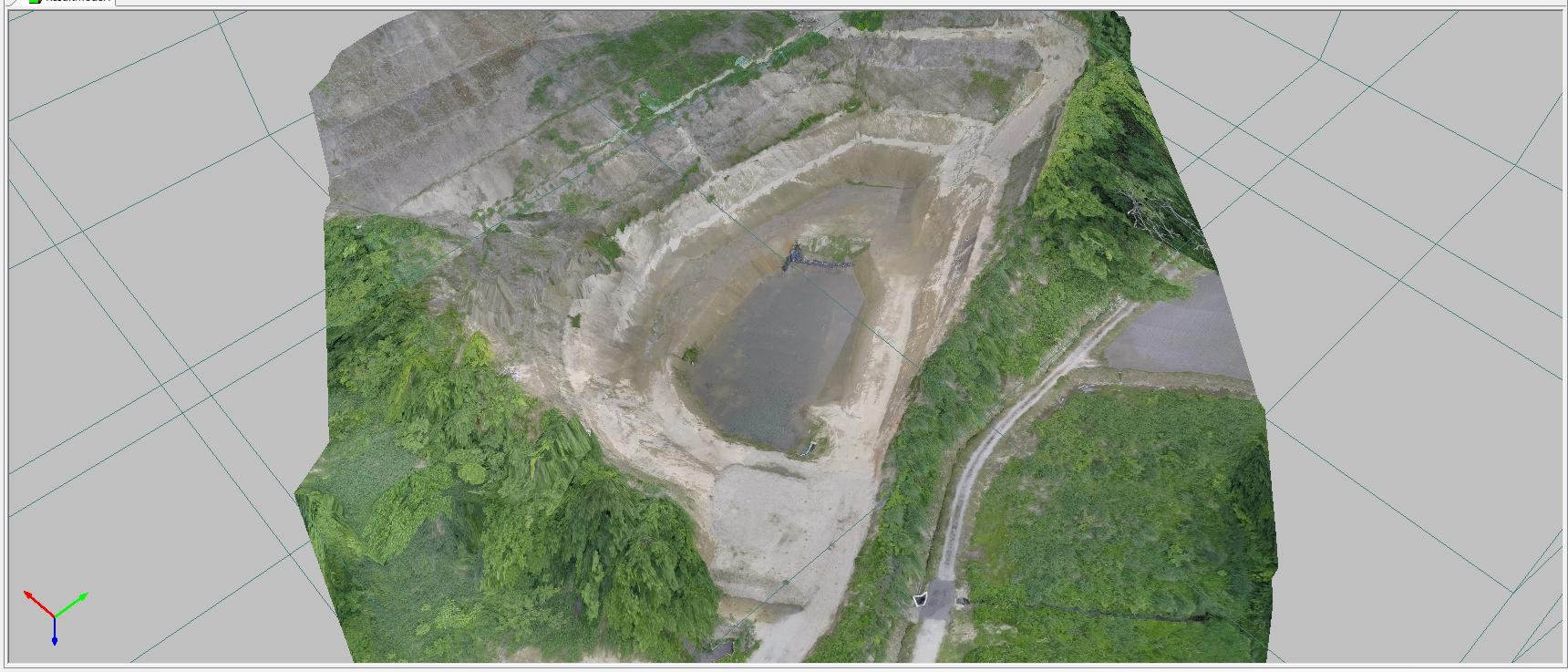 写真 測量 uav 高低差の大きい場所でのUAV測量方法1